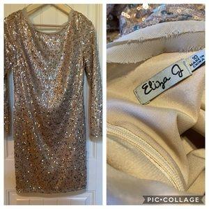Eliza J Gold sequin party dress